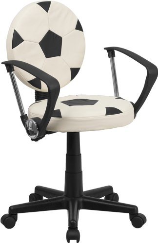 Flash Furniture Soccer Swivel Task Chair with Arms