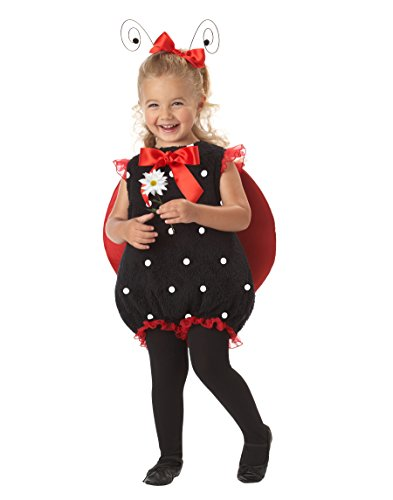 [California Costumes Lil' Lady Bug Romper, Red/Black, 18-24 Costume] (Girls Bug Costumes)