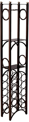 Tower Wine Rack - Home Source Wine Rack, 11 x 36 x 72.2
