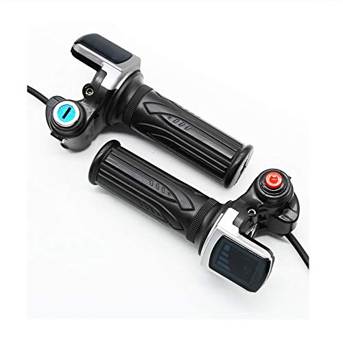 Electric Bike Twist Throttle 36v 48v LCD Speed Display Handlebar Throttle Universal for Electric Bicycle Scooter