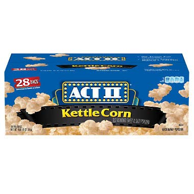 Price comparison product image Product of ACT II Kettle Corn Microwave Bags (28 ct.)- Pack of 2 - [Bulk Savings]