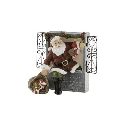 Aynsley Santa Climbing Through Window