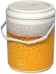 Cooler Térmico Lavita Beer 4 Litros 12 Latas com Alça de Transporte Branco