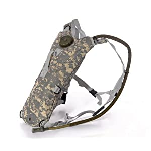 Ultimate Arms Gear Tactical ACU Army Digital Camouflage Hydration Backpack Carrier With 84 oz. Water Drinking Bladder Reservoir Capacity System