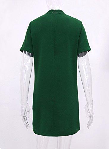 Futurino - Vestido - Manga corta - para mujer Verde