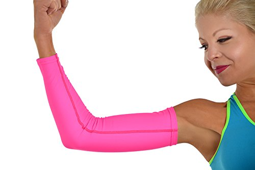 MyProSupports ARM SLEEVE Medical Sport Single Compression Wear Muscles Support Brace Sport Gym (Hot Pink, Small) (Single Wear)