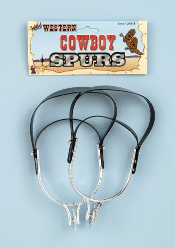 Western Cowboy Spurs - One Size (Country And Western Costumes)