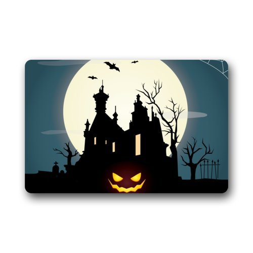 Halloween Doormats/Decorations/ Halloween House Pumpkins/ Durable Machine-washable Indoor/outdoor Door Mat 23.6