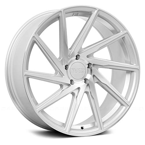 F1R F29 Silver Wheel with Machined Finish (20 x 10. inches /5 x 120 mm, 38 mm Offset)