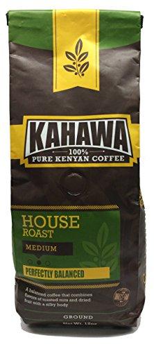 KAHAWA Kenya Coffee, Medium Roast, Ground Coffee, 100% Arabica Coffee, Kenya AA, Specialty Coffee, Premium Coffee, Single Source Origin, Direct Fair Trade, 12 Ounce