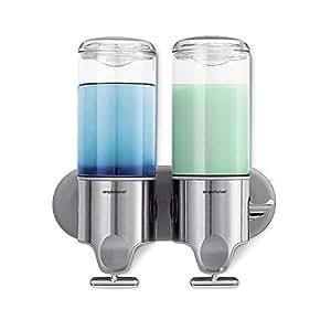 Simplehuman double wall mount shower pump 2 x - Distributeur savon douche mural ...