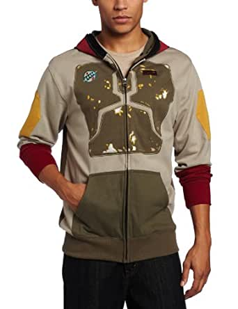 Star Wars Men's Darker Boba Fleece Hoodie, Multi-Colored, Small