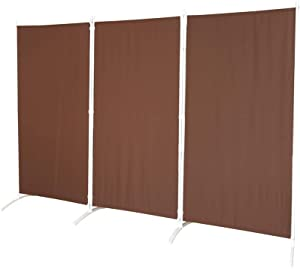 "STEELAID Room Divider – Folding Partition Privacy Screen for School, Church, Office, Classroom, Dorm Room, Kids Room, Studio, Conference - 102"" W X 71"" Inches - Freestanding & Fordable"