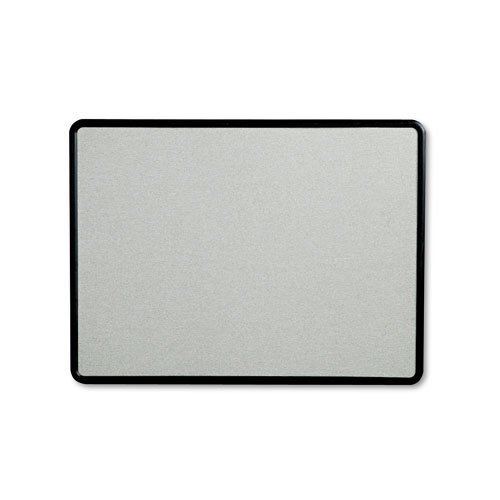Quartet - Contour Fabric Bulletin Board, 48 x 36, Gray, Plastic Graphite Frame 7694G (DMi EA by - Frame Graphite Gray Plastic