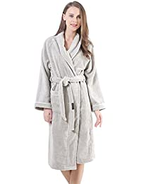 Terry Cotton Cloth Plush Bathrobe, Soft, Thick, Long Size, Bath Shower Spa Robes For Women