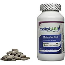 Methylated Chewable Multi-Vitamin for Children and Adults (30 Adult Servings- 120 tablets)