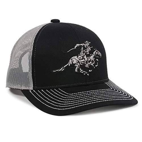 Winchester Horse Rider Mesh Back Black/White Hunting Hat ()