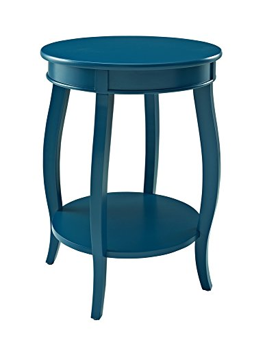 powell-furniture-teal-round-table-with-shelf