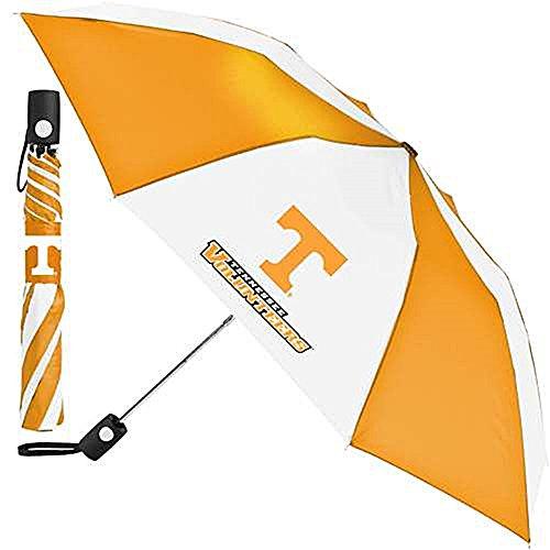WinCraft NCAA Tennessee University of Auto Folding Umbrella, Black