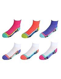 Fruit of the Loom Girl's Athletic Ankle Socks (6 Pair Pack)