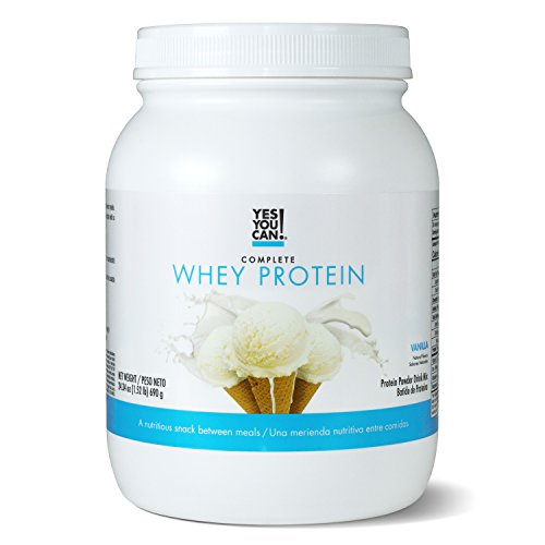 Yes You Can! Complete Whey Protein, a Nutritious Snack Between Meals, 15 Grams of Protein, Helps Lose Weight and Build Muscle, Batidos de Protena Completo para Bajar de Peso - 1.52 Lb, Vanilla