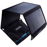 Anker Cargador solar 21W Dual USB, PowerPort Solar para iPhone 7 / 6s / Plus, iPad Pro / Air 2 / mini, Galaxy S7 / S6 / Edge / Plus, Note 5/4, LG, Nexus, HTC y más