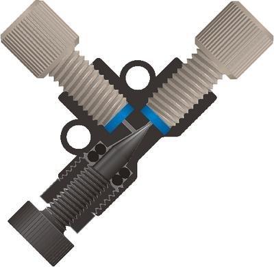 P-446 - Micro-Metering Valve, Black, 0.50 mm Thru-Hole, 7.2 L Internal Volume, PEEK - Micro-Metering Valve, Upchurch Scientific - Each