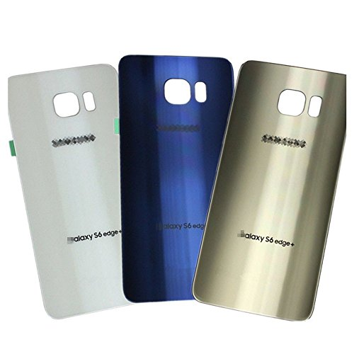 New OEM Original Back Housing Repair Battery Door Cover for Samsung Galaxy S6 Edge+ Plus with Back Adhesive (Blue)