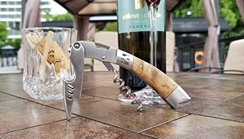 Waiters Corkscrew with Elegant Shadow Wood Handle by Seeyo - Wine Opener,Bottle Opener and Foil Cutter - The Sturdy Wine Key designed for Waiters,Sommeliers and Bartenders.(Selected Gift Box) by Seeyo (Image #6)