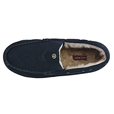 MOC PAPA Men's Suede Leather Moccasin Warm Loafers | Slippers