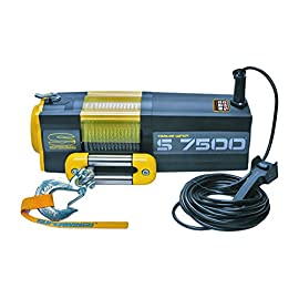 Superwinch 1475200 S7500 12V 7500 lb Winch with Steel Rope (Stainless Steel Roller Hawse, 30′ Remote)