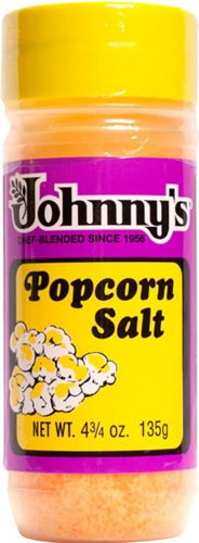 Johnny's Gluten Free POPCORN SALT 4.75oz (3 Pack) by Johnny's Fine Foods