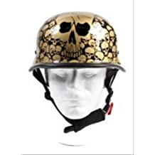 Skull Graveyard Gold Graphics German Novelty Helmet Size XL