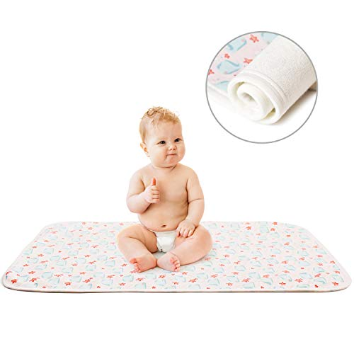 Printed Changing Baby Diaper Pad, Waterproof Pad Baby, Mifiatin Soft Urine Pads Absorbent Blanket Sheet Bed Pads Washable Mattress Change Mat Incontinence Pads for Infant and Adults - Whale(50x70cm)