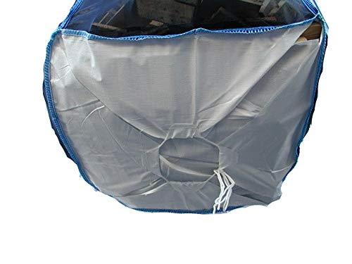 100 x 100 x 120 cm especial para le/ña tejido de malla completo bolsa de madera Bolsa grande de alta calidad para madera con base de estrellas saco de le/ña para secar y transportar la madera.