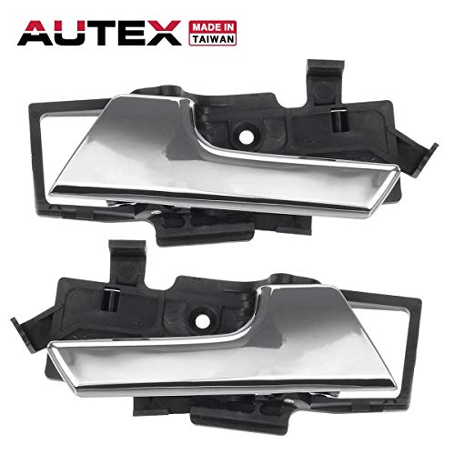 AUTEX 2pcs Interior Front/Rear Left Right Door Handle Driver Passenger Side Compatible with Chevrolet Aveo 2007-2011 Replacement for Chevrolet Aveo5 09-11 Replacement for Pontiac G3 2009 -
