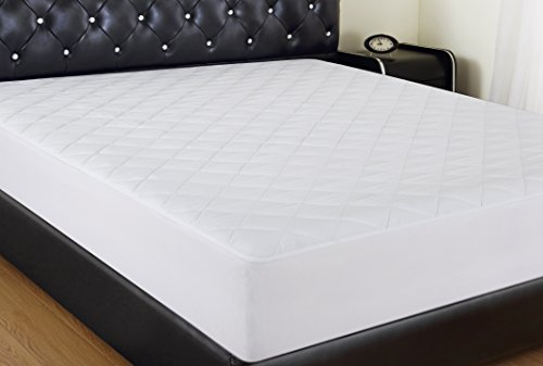 "Allrange Hypoallergenic Quilted Fitted Cotton Rich Mattress Pad, Stretch-up-to 16"", Ultra-Fresh Anti-bacteria, Freshness Protection, Snug Fit, Machine Wash, Mattress Protector, Full (200tc Mattress Pad)"
