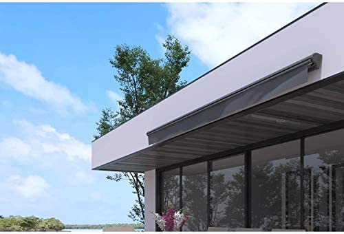 JFB - Toldo motorizado (3, 95 x 3 m), Color Gris: Amazon.es: Jardín