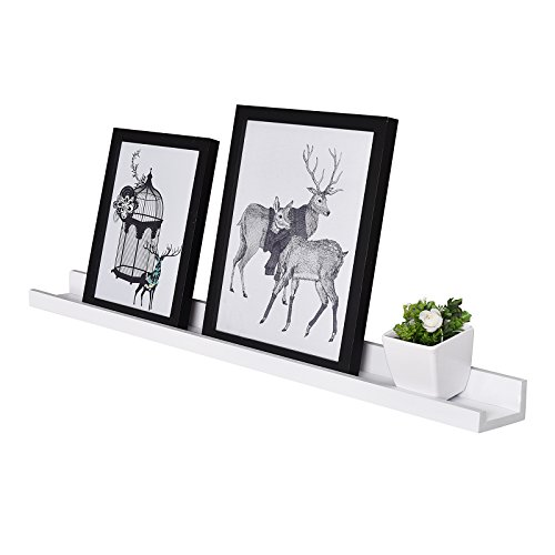 - WELLAND Vista Floating Picture Ledge Display Wall Shelf, 48-inch, White