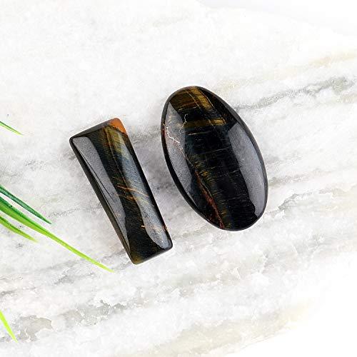 Jaguar Gems Natural Tiger Eye Mix Shape Cabochons Gemstone and Crystals, DIY Jewelry Making Supplies, Tiger Eye Gems