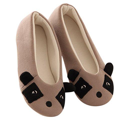 Wensltd (tm) Pantofole Da Donna Per Le Donne Inverno Caldo Scarpe Da Ballo (s, Bianco) (m, Grigio) Grigio