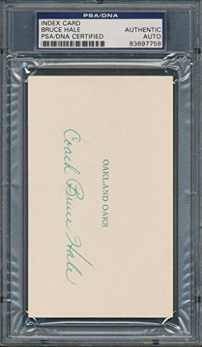 Bruce Hale Index Card Certified Authentic Auto Autograph Signed7758 - PSA/DNA Certified - NBA Cut Signatures by Sports Memorabilia