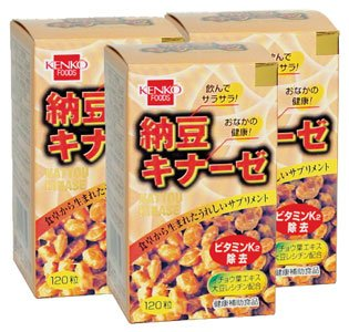 納豆キナーゼ粒【3本セット】健康フーズ B001CNMSCM