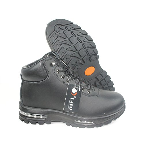 Heels Leather Waterproof (Labo Men's Hiking Boot Leather Air Heel 5812BLACK-10)