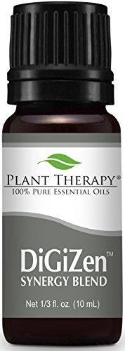 - Plant Therapy DiGiZen (formerly Digest Aid) Synergy Essential Oil Blend. Blend of: Peppermint, Anise, Ginger, Tarragon, Fennel and Lemongrass. 10 ml (1/3 oz).