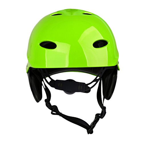 MonkeyJack CE Approved M/L Green/Rose Head & Ear Protection Safety Helmet with Air Vents for Water Sport Canoeing Kayaking Wakeboarding