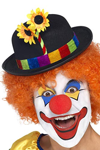 Clown Bowler Adult Hat ピエロの山高帽子大人用ハット♪ハロウィン♪サイズ:One-Size