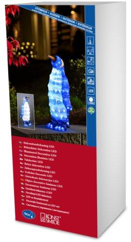 "Konstsmide 6117-203 LED acryl figuur ""Pinguïn staend"" / voor buiten (IP44) / 24V buitentransformator / 96 koud witte diodes / transparante kabel"