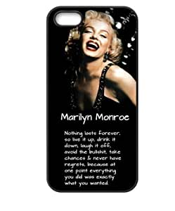 Wendy's diy case Marilyn Monroe Hard Plastic Case Skin Cover for Apple iPhone 4sG (Marilyn Monroe Quote Design)