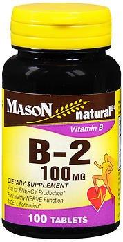 Mason Natural B-2 100 mg Tablets - 100 ct, Pack of 6